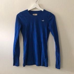 Hollister electric blue long sleeve top